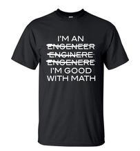 Забавный лозунг – рубашка я инженер я хороший с математикой мужчины свободного покроя уличная о-образным он-шее футболку 2016 лето с коротким рукавом хип-хоп топы