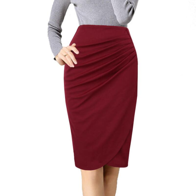 Fashion 2018 Women OL Skirt Female Elegant High Waist Pencil Skirt Plus Size Casual Skirt Skirts