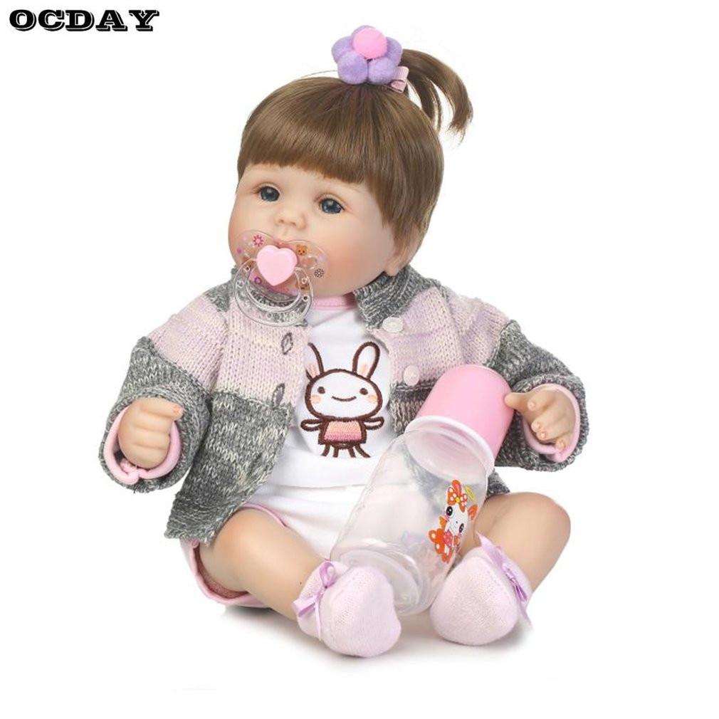 40/42/55 см bebe-reborn Симпатичные Детские игрушки Куклы новорожденных всего тела мягкого силикона виниловые ручной работы reborn Baby Alive игрушки куклы... ...