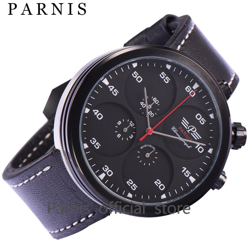 48mm font b Men s b font font b Quartz b font Watches Parnis Brand 12Hours