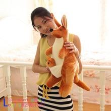 lovely plush kangaroo toys cute stuffed kangaroo monther&baby birthday gift about 60cm