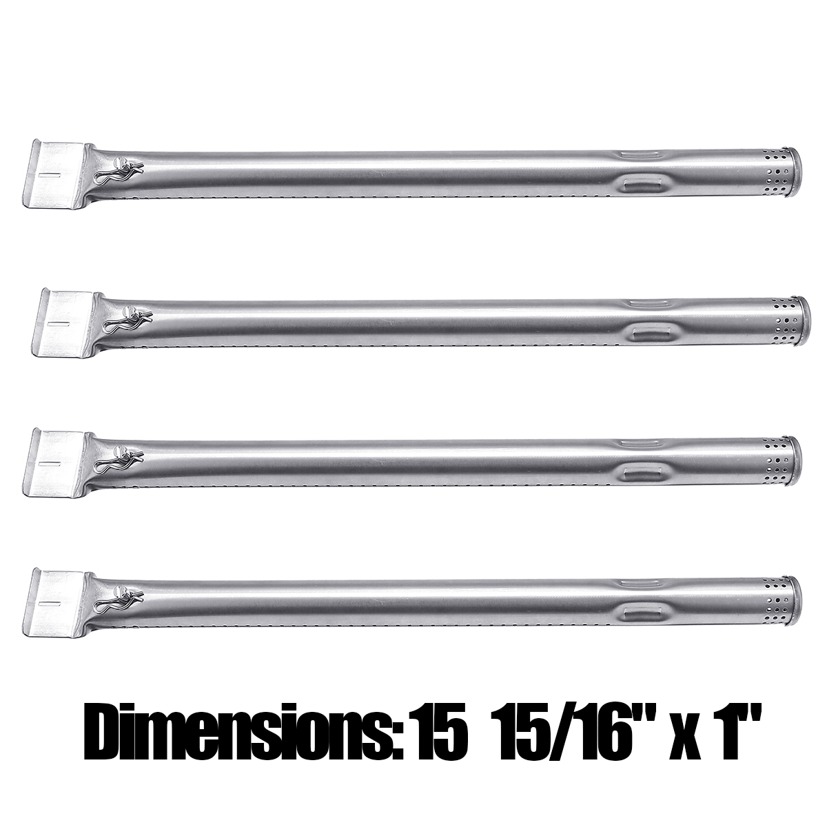 15 inch 4pcs/pk Adjust Stainless Steel Tube Burners Barbecue Parts Replacement For Most Gas Grill Models Outdoor BBQ15 inch 4pcs/pk Adjust Stainless Steel Tube Burners Barbecue Parts Replacement For Most Gas Grill Models Outdoor BBQ