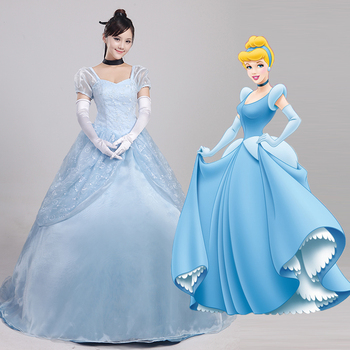 Hero Catcher High Quality Halloween Cinderella dress fancy Cinderella cosplay costume adult women Cinderella costume