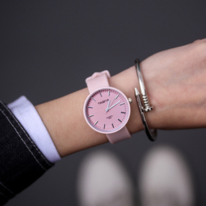 Women Watches Hot Sale Simple Casual Candy Color Watch Ladies Silicone Band Clock Female Quartz Wristwatches Reloj Mujer Relogio