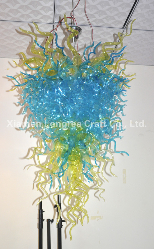 Wholesale Lighting Fixture Large Big Living Room LED Light Source European Chihuly Style Hand Blown Glass ChandelierWholesale Lighting Fixture Large Big Living Room LED Light Source European Chihuly Style Hand Blown Glass Chandelier