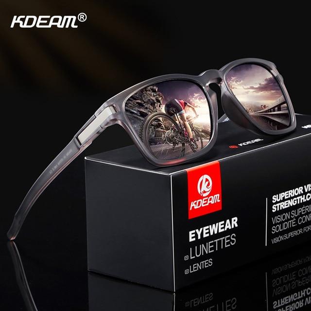 KDEAM Óculos Polarizados Óculos de Sol Das Mulheres Dos Homens Do Estilo Do  Esporte HD Óculos Óculos Masculino Óculos de Condução Óculos de Sol Quadro  ... b6413eade1