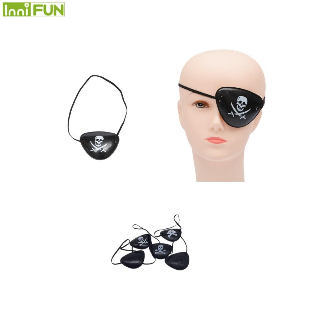 Skeleton Pirate Amblyopia Eye Patches Lazy Eye Correction Vision Training Eyeshade For Adult Child Halloween Cosplay Decoration