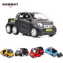 HOMMAT Simulation 1:24 Smart Fortwo 4x4 Pickup Vehicle Model Alloy Diecast Toy Car Model Toys For Children Kids Christmas Gift