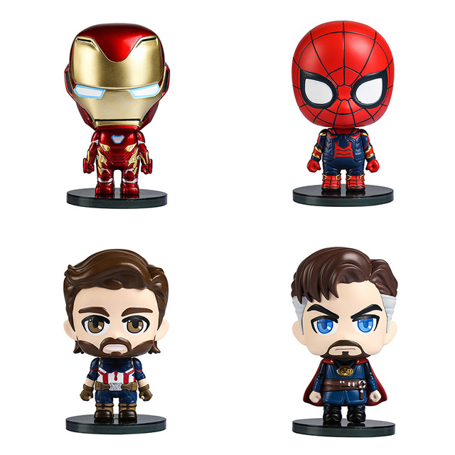 O Homem de Ferro Vingadores Thanos Doutor Estranho Do Homem Aranha Hulk Capitão América PVC Action Figure Collectible Modelo Brinquedos Para Crianças
