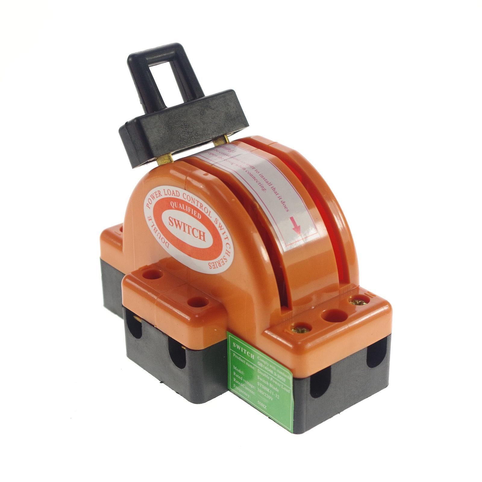 100a Two Pole Disconnect Double Throw Switch Circuit Breaker Backup Knife Fuse Box Residential 30a 220v 380v