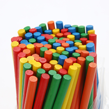 100pcs Colorful Bamboo Counting Sticks Mathematics Montessori Teaching Aids Counting Rod Kids Preschool Math Learning Toy