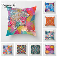 Fuwatacchi Mandala Cushion Cover Geometric Patchwork Pillow Cover for Home Sofa Chair Decorative Pillows Flower Pillowcases