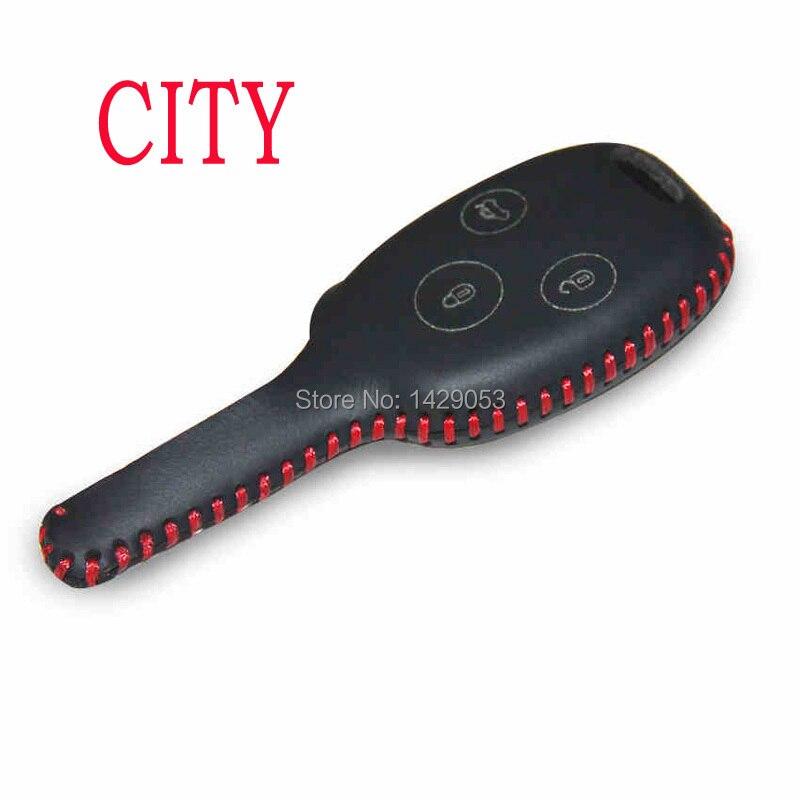 Car Key Case For Honda City Genuine Leather Car Key Cover Genuine