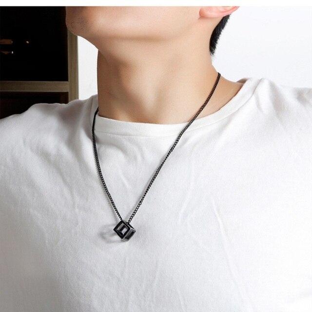 модные ожерелья с полыми кубическими подвесками для женщин ювелирные фотография