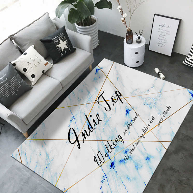Ins mode pop tapis salon chambre rose marbre lignes tapis 3D lune espace tapis antidérapant velours imprimé tapis personnaliser
