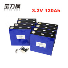 8PCS  3.2v 120Ah lifepo4 Battery pack 12v 24v120ah 4000 Times 3C 360A Solar Storage RV E-Bike for energy storage Tax free