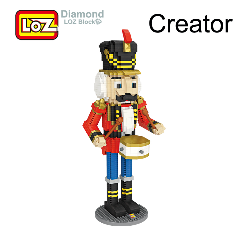 LOZ Nutcracker Soldier Eric Diamond Building Blocks Figure Toy 28CM Big DIY Toy For Age 14+ 1560pcs 9039 Germany Christmas Gift стоимость