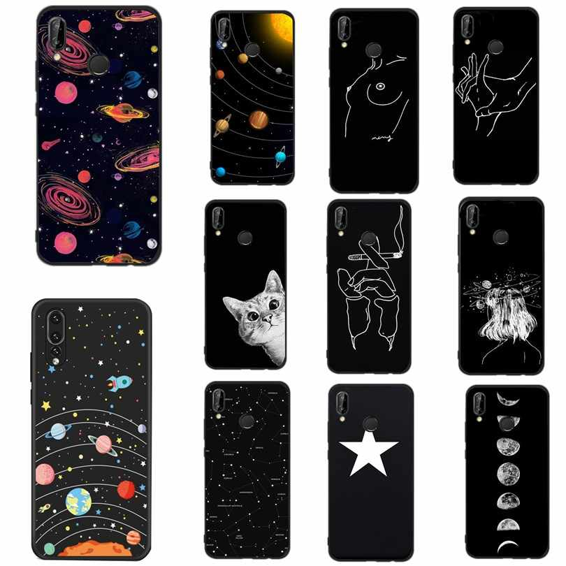 Cover For Huawei P20 Lite Case Soft Silicon Funda Line Print Phone Case For Huawei P Smart P10 Lite P8 P9 Lite 2017 Cases Cover