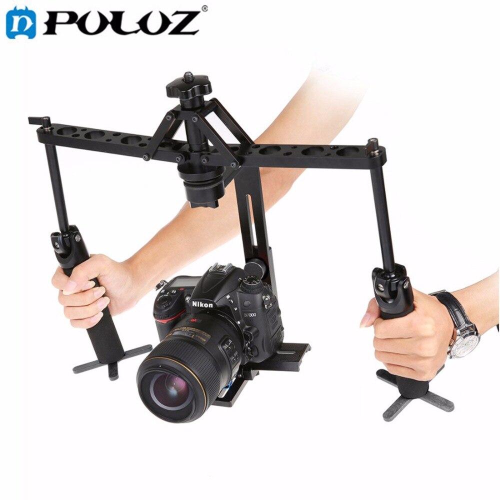 Dual Gimbal Handgrips Handheld Mechanical Stabilizer for Steadicam for Canon Nikon Sony DSLR Camera Camcorder Digital Video
