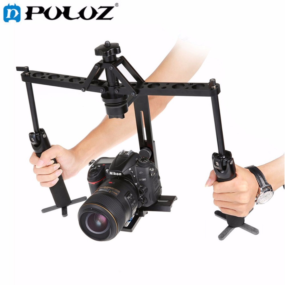 Dual Gimbal Handgrips Handheld Mechanical Stabilizer for Steadicam for Canon Nikon Sony DSLR Camera Camcorder Digital Video