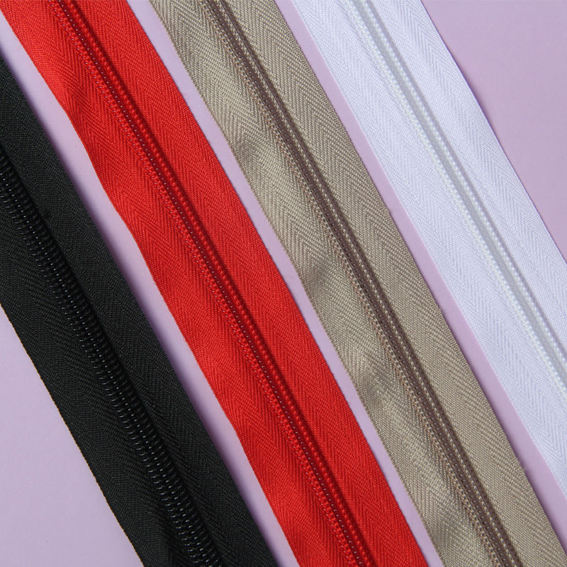 #5 Cremalleras de bobina de nailon met/álico dorado antiguo por The Yard Bulk 10 yardas cinta blanca con 25 piezas deslizadores dorados para bricolaje costura Tailor Craft Bag Leekayer Negro