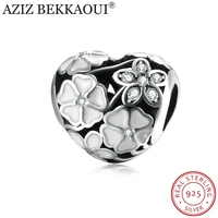 AZIZ BEKKAOUI 100 925 Sterling Silver Poetic Blooms Charm Beads Fit Original Pandora Bracelet Authentic Luxury