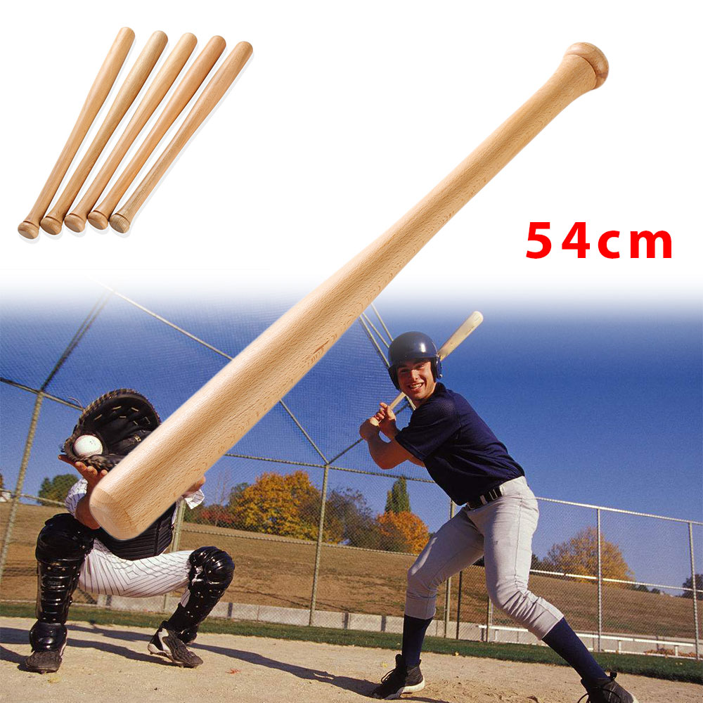 Baseball Bat Hardwood Bats 1pcs Wooden 54cm Sports Activities Bat Sports Game Adults Outdoor Fitness Professional Solid