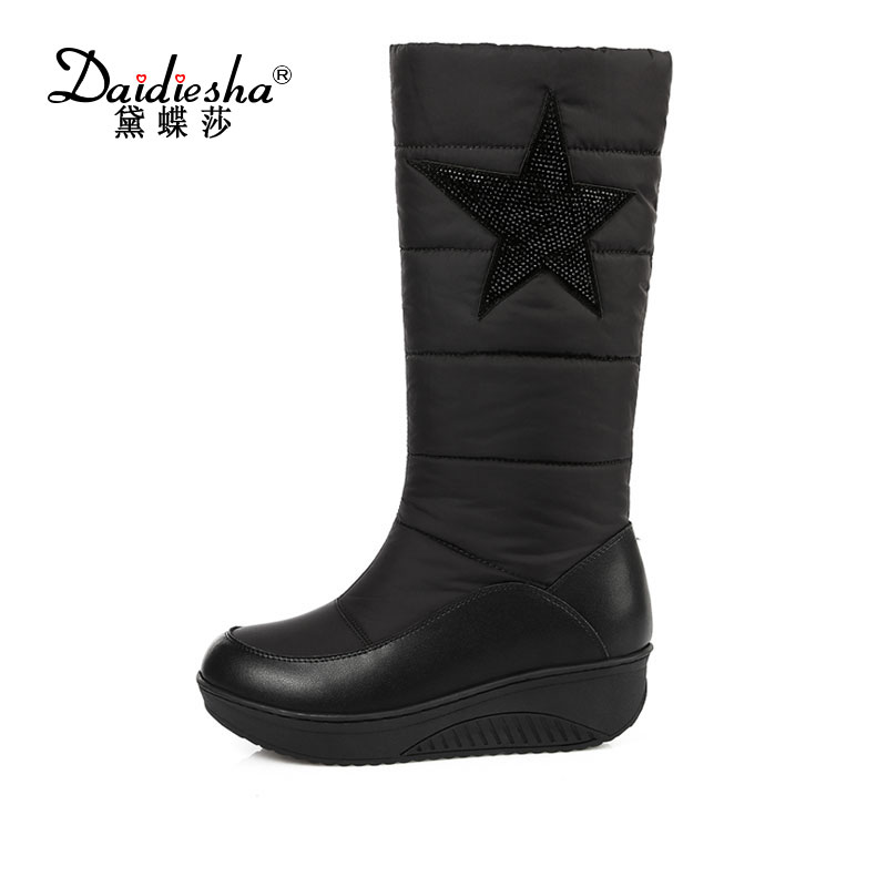 Daidiesha 2017 New Hot Fashion sexy ladies' Platform Boots Women Knee High boots winter women shoes fur warm snow boots hot 2017 new arrival women winter shoes sexy high heels knee high boots women round toe solid fashion platform pumps for ladies