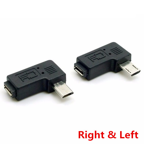9mm Lange Connector 90 Graden Links & Haaks Micro Usb 2.0 5pin Man-vrouw Extension Adapter 1 Stks/partij Modieuze (In) Stijl;