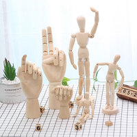 1PC Creative Movable Joint Wooden Character Hand Craft  Home Decorations Gifts For Student Friends Couples Destop Decoration