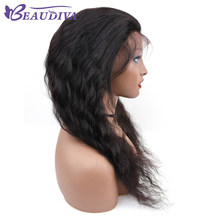 Beau Diva Loose Wave Wig Indian Lace Front Human Hair Wigs With Baby Hair Lace Front Wig Non Remy Hair 12-24 inch Natural Color(China)