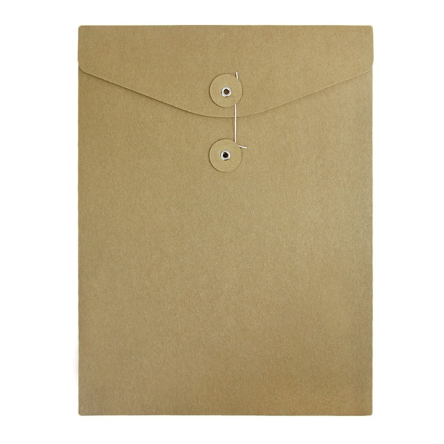 10pcs kraft paper file folder a4 document bill resume