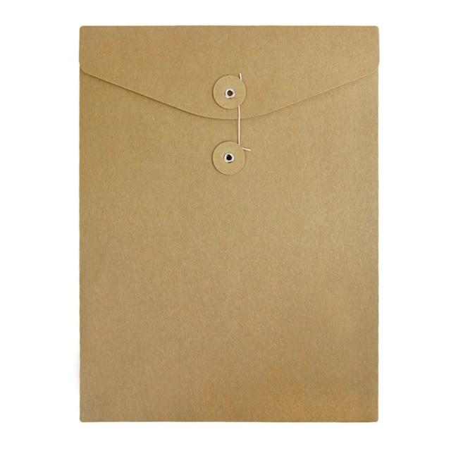 10pcs Kraft Paper File Folder A4 Document Bill Resume Storage