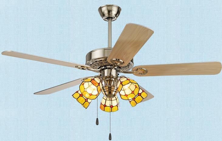 Европейская мода спальня вентилятор с лампами Средиземноморский стиль потолочный вентилятор столовая amp люстра вентилятор FS22