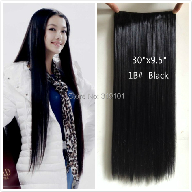 30 super long hair 5 clip in hair extensions straight brownish 30 super long hair 5 clip in hair extensions straight brownish black hair 75cm24cm one piece for full head christmas gift sale on aliexpress alibaba pmusecretfo Choice Image