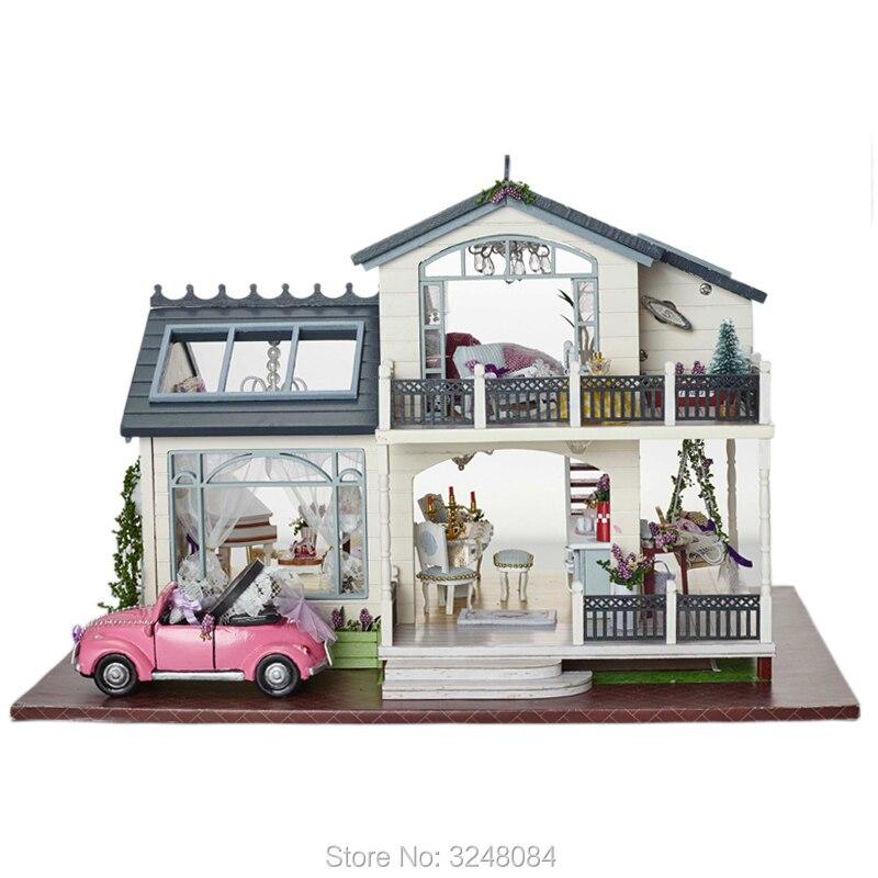 Cute Room 1 Unidades Muebles DIY gran casa de muñecas de madera ...