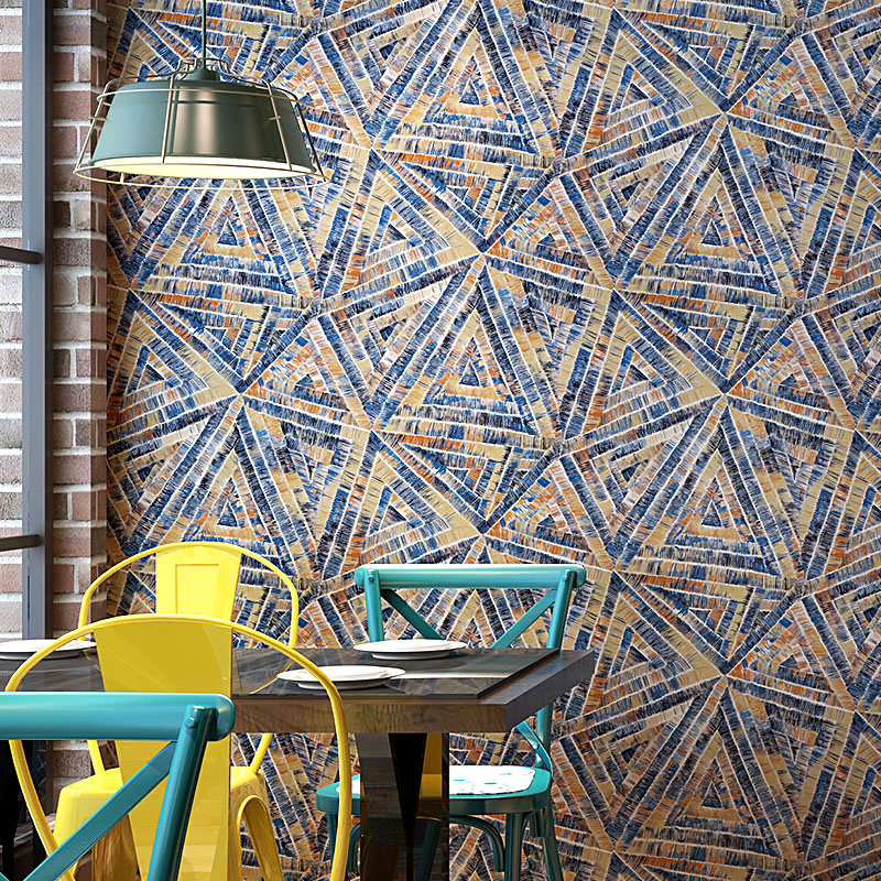 Nordic Geometry Wall Papers home Decor Vintage Ins Contact Paper for Sofa Cafe Shop Restaurant KTV Background Walls Mural цена