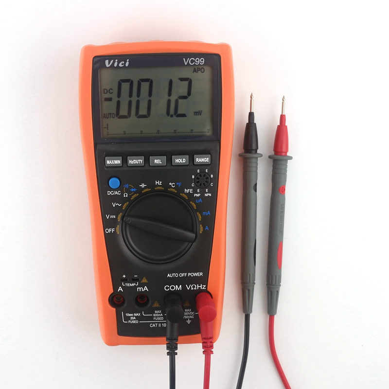 цена на Vichy VC99 3 6/7 Auto Range Digital Multimeter AC DC Voltmeter Ammeter Ohm Cap Frequency Hz C/F Thermometer Multi Tester