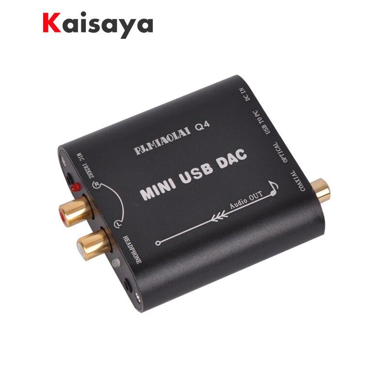 Q4 CM108AH Mini HIFI 24Bit 192Khz Coaxial Optical USB Input DAC Headphone Out Power amplifier Audio decoder