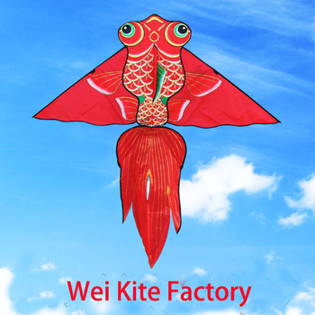 free shipping high quality 1.6m carp fish kite flying with line outdoor  toy for kids nylon ripstop delta kite weifang kite bag цена 2017
