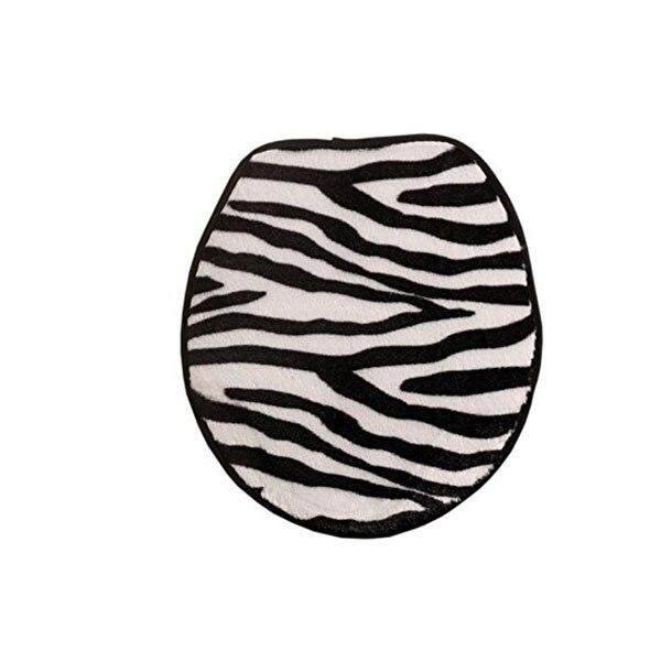 3 pcs doux flanelle zbre contour pidestal tapis couvercle de toilette de tapis de bain tapis - Tapie Salle De Bain Aliexpress