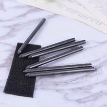 Mine de crayon en charbon de bois/Graphite, souple, moyen, dur HB 2B 4B 6B 8B 14B, 5.6mm, 6 pièces
