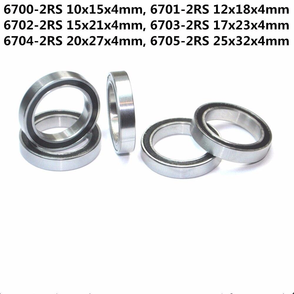 110x140x16 mm 2 PCS Metal Rubber Ball Bearing Bearings BLACK 6822RS 6822-2RS