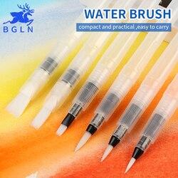BGLN 3/6Pcs Large Capacity Barrel Water Paint Brush Set Different Shape Soft Calligraphy Painting Brush Drawing Pen Art Supplies