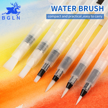 BGLN 3/6Pcs Large Capacity Barrel Water Paint Brush Set Different Shape Soft Calligraphy Painting Drawing Pen Art Supplies