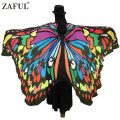ZAFUL Brand 2017 Women Scarf Shawl Wrap Gifts Butterfly Wing Cape Scarf Peacock Novelty Color Scarves Womens Pashmina Wholesale