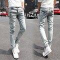 15 Стили Карандаш Узкие джинсы мужчины хлопок джинсовые slim fit прямые известных брендов модельер высокое качество человек весна 2014