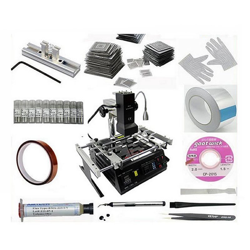 Original infrared BGA rework station IR6500 23pcs bga stencils 21 in 1 bga reballing kit