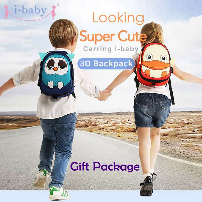 i-baby 3D Animal Backpack Harnesses Baby Kids Leash Toddler Waterproof Backpack with Safe Harness, Ages 1+, 6 Colors