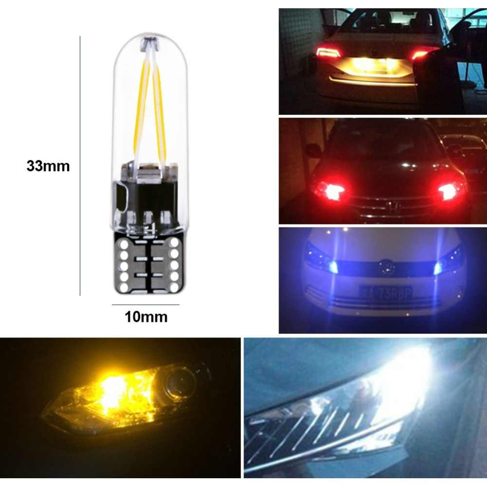 Foxcncar led W5W led T10 6500 K 4300 K стекло автомобиль свет Светодиодная лампа накаливания авто автомобилей Чтение купольная лампа DRL стайлинга автомобилей 12 v